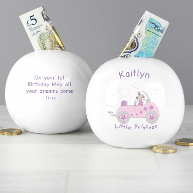 Personalised Little Princess in Car Money Box