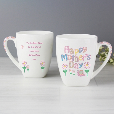 Personalised Daisy Mother's Day Latte Mug