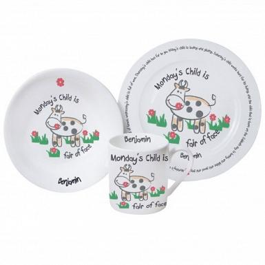Personalised Mondays Child Breakfast Set
