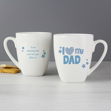 Personalised Patterns I Love My Latte Mug