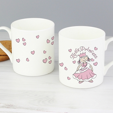 Personalised Little Princess Balmoral Mug with  Milk Chocolatess