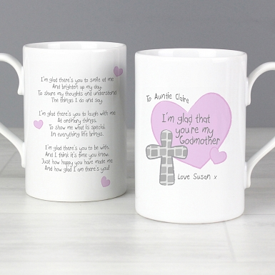 Personalised Godmother Slim Mug