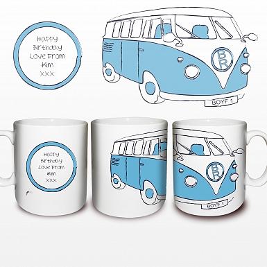 Blue Camper Van Mug delivery to UK [United Kingdom]