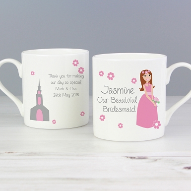 Personalised Fabulous Bridesmaid Mug