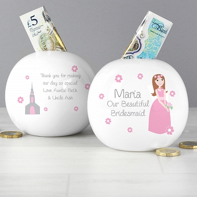 Personalised Fabulous Bridesmaid Money Box