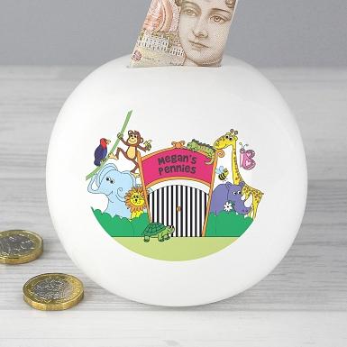 Personalised Zoo Money Box