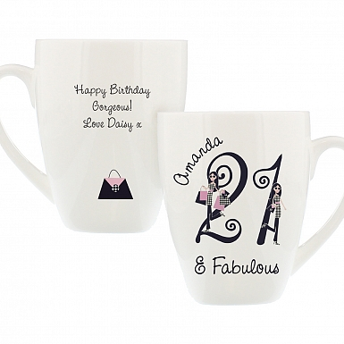 Personalised Fabulous Numbers Latte Mug