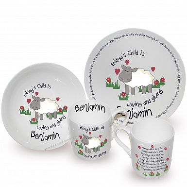 Personalised Fridays Child Breakfast Set