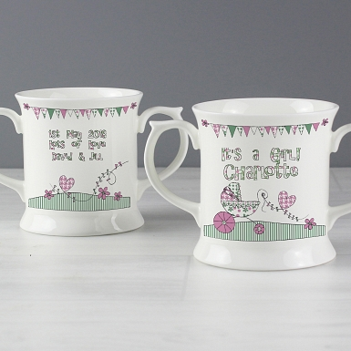 Personalised Whimsical Pram Loving Mug