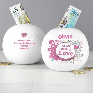 Personalised Doodle Money Box