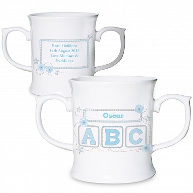 Personalised Blue ABC Loving Mug