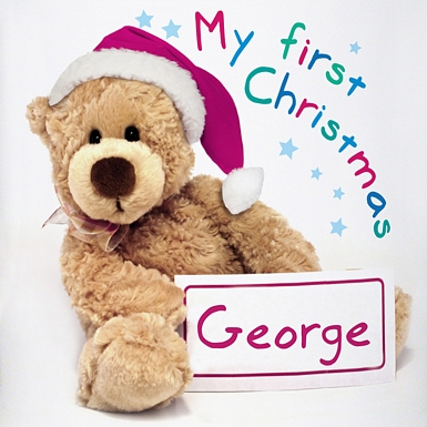 Personalised Teddy 1st Christmas Loving Mug
