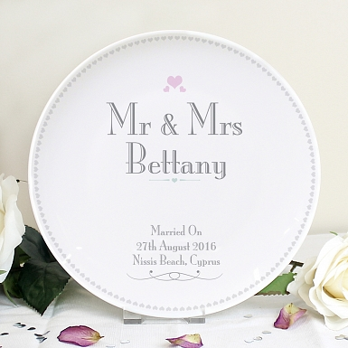 Personalised Decorative Wedding Mr & Mrs Plate