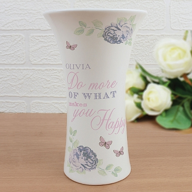 Secret Garden Ceramic Waisted Vase