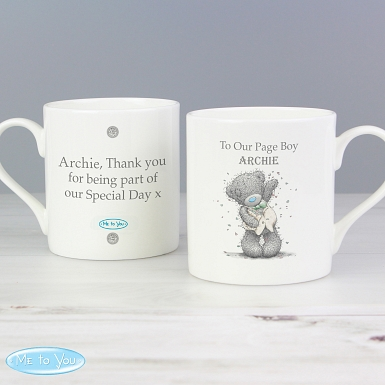 Personalised Me To You Male Wedding Balmoral Mug