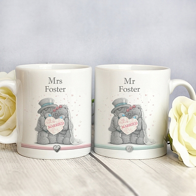 Personalised Me To You Wedding Couple Mug Set