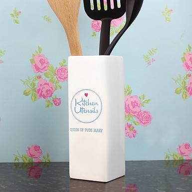 Personalised Kitchen Utensils Pot