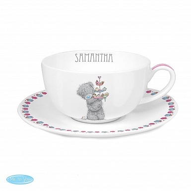 Personalised Me To You Cupcake Teacup & Saucer