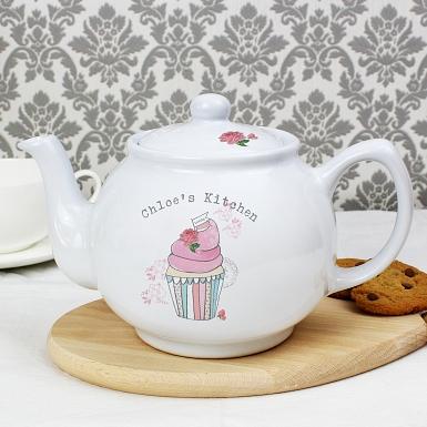 Vintage Cupcake Teapot