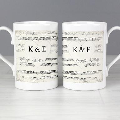 Personalised Vintage Manuscript Mug Set