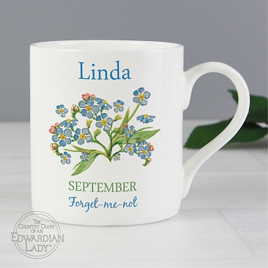 Personalised Country Diary 'September Flower Of The Month' Balmoral Mug