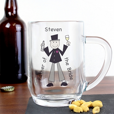 Personalised Cartoon Wedding Tankard