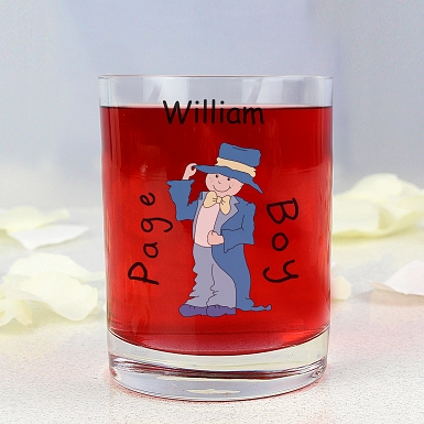 Personalised Cartoon Wedding Young Male Juice Glass