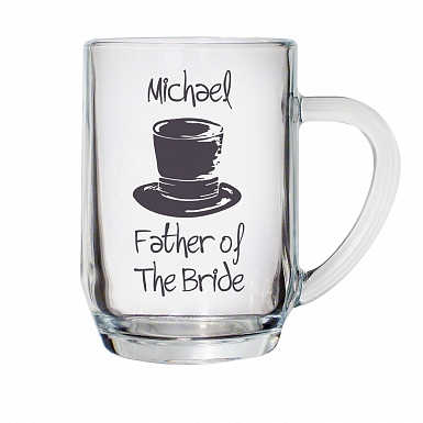 Personalised Wedding Top Hat Tankard