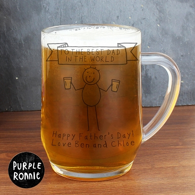 Personalised Purple Ronnie Cheers Tankard
