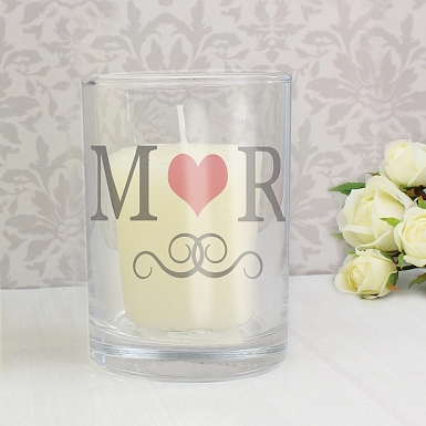 Personalised Pack of 10 Monogram Votive Candle Holders