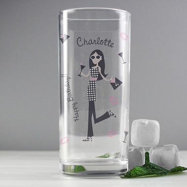 Personalised Fabulous Hi Ball Glass