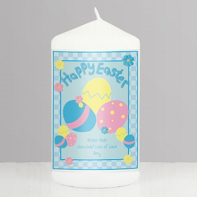 Personalised Happy Easter Eggs Candle