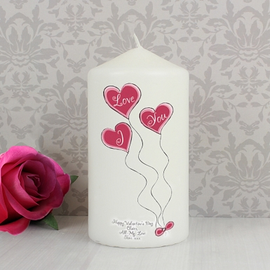 Heart Balloons Candle delivery to UK [United Kingdom]