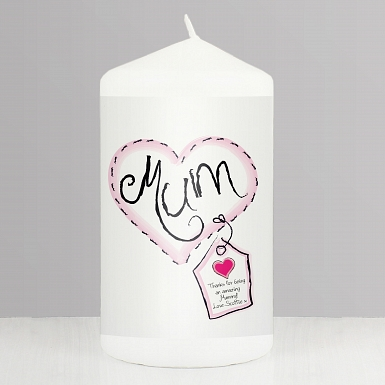 Heart Stitch Mum Candle delivery to UK [United Kingdom]