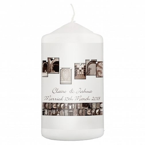Personalised Affection Art Mr & Mrs Candle