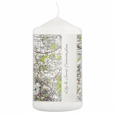 Personalised 1945 - 1948 New Popular Map Candle