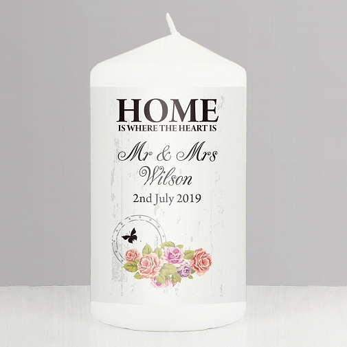Personalised Shabby chick Candle