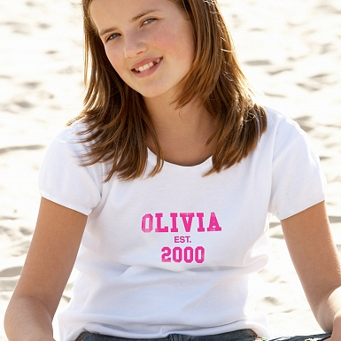Personalised Established PinkText Tshirt 12-13 years