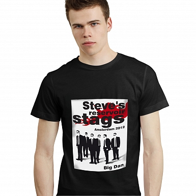 Personalised Reservoir Stags T-Shirt - Black - Extra Large