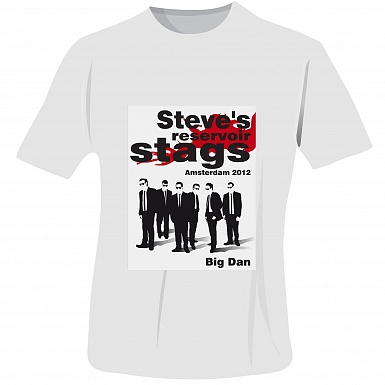 Personalised Reservoir Stags T-Shirt - White - Extra Extra Large