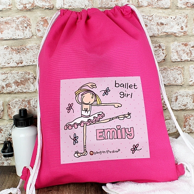 Personalised Bang On The Door Ballet Dancer Swim & Kit Bag