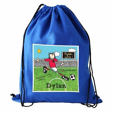 Personalised Bang On The Door Football Crazy Swim & Kit Bag