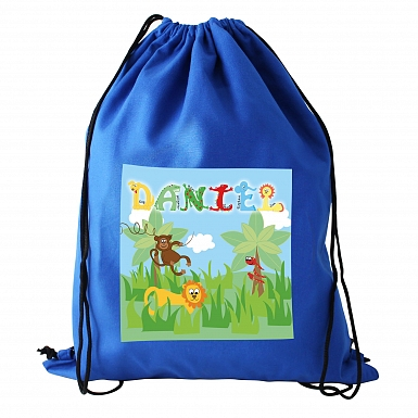 Personalised Animal Alphabet Boys Swim & Kit Bag