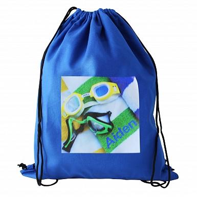 Personalised Swimming Goggles Blue Swim & Kit Bag