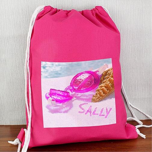 Personalised Swimming Goggles Pink Swim & Kit Bag