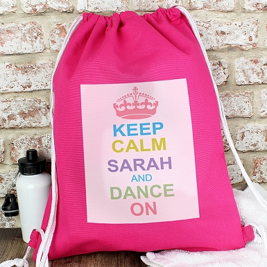 Personalised Pastel Keep Calm Swim & Kit Bag