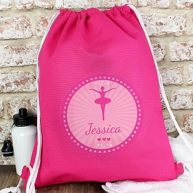 Personalised Ballerina Swim & Kit Bag