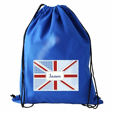 Personalised Patchwork Union Jack Swim & Kit Bag
