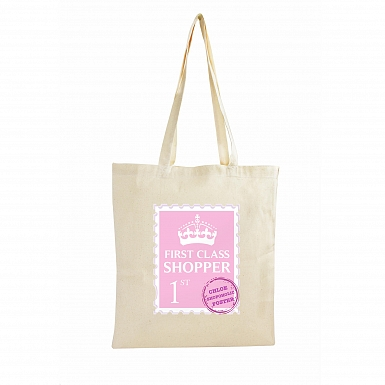 Personalised 1st Class Cotton Bag