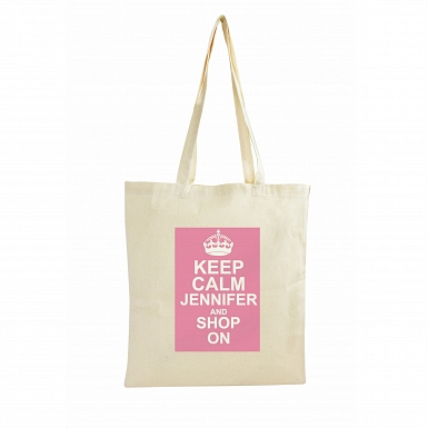 Personalised Keep Calm Cotton Bag